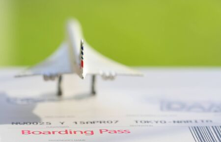An abstract of boarding pass to your flight photo