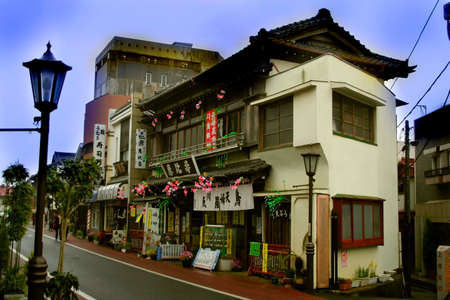 Historic House On A Street In Japan photo