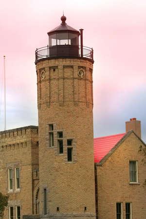 mackinac: Mackinac light house Stock Photo