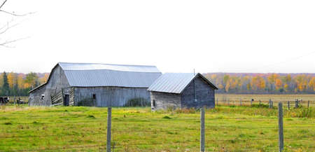 Abandoned farm house in the middle of fields Stock Photo - 1735915