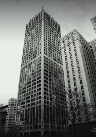 wideview: Historic Buildings In Detroit Downtown