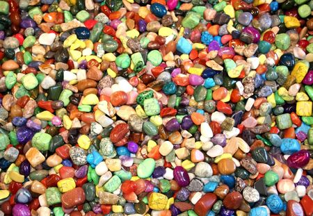 colourful and shiny assorted stones in a park Stock Photo - 1761691