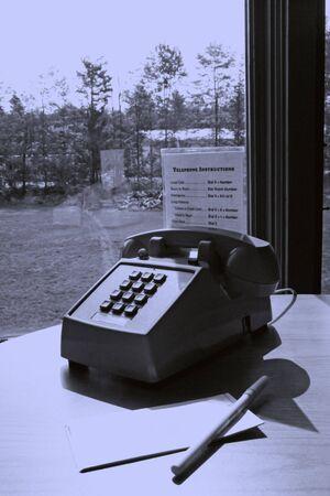 ホテルの部屋の電話サービス 写真素材