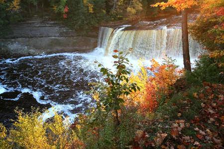 Upper Tahquamenon water falls in Michigan upper peninsula photo