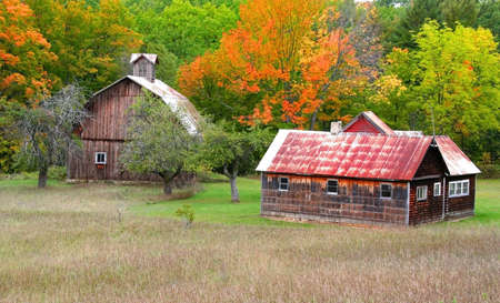 ranching: Barn And Old House Stock Photo