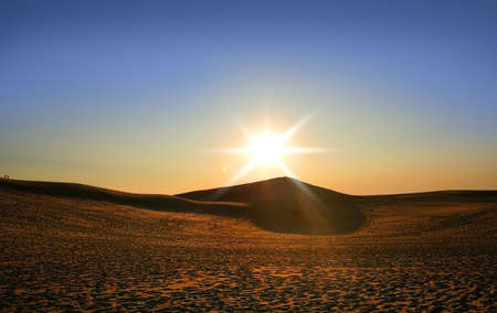 tread: Sun Set Over The Dunes