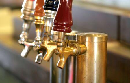 Brewary Taps Stock Photo