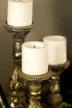 candle holders: Candle Holders antiguos Foto de archivo