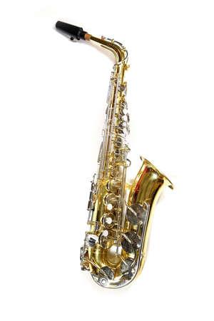tarnished: Saxophone Stock Photo