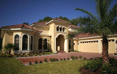luxury house: Florida Home Stock Photo