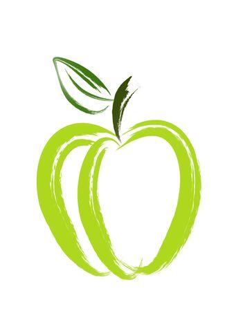 Apple Brush Art Banco de Imagens