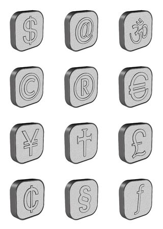 japanesse: Currency Symbol Buttons Stock Photo