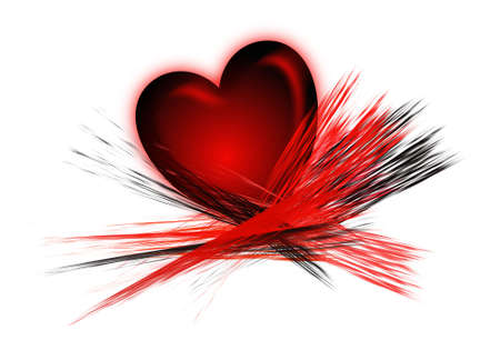 Heart And Brush Strokes Stock Photo
