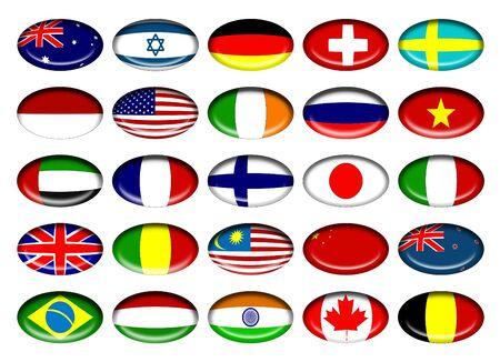 sweden flag: Flag Buttons