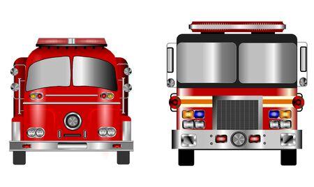 Alte und Neue Fire Engine Standard-Bild - 2489765