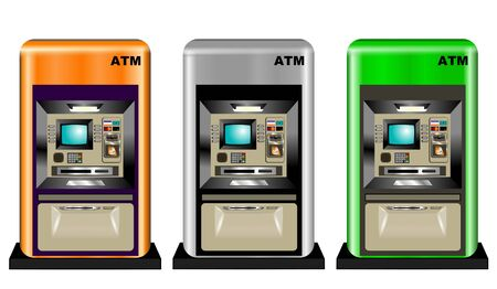 automatic transaction machine: Atm Ilustraci�n