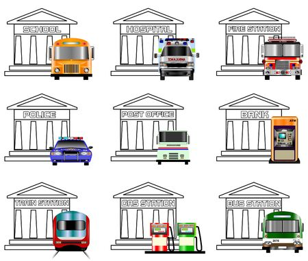 Public Services Icons Stock Photo - 2489785
