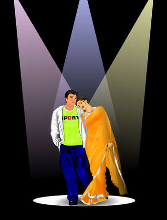 gazing: Indian Couple