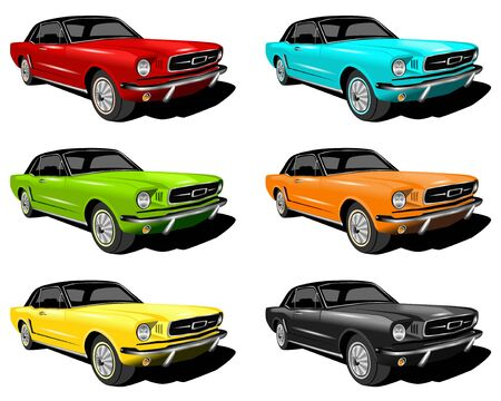 different colored cars photo