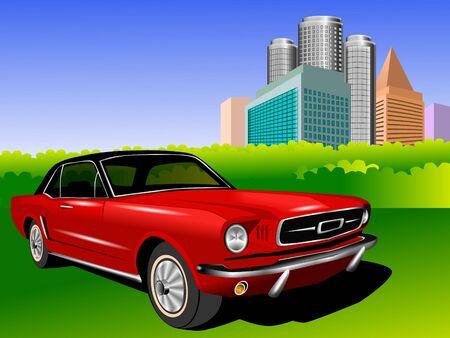 details: Red car