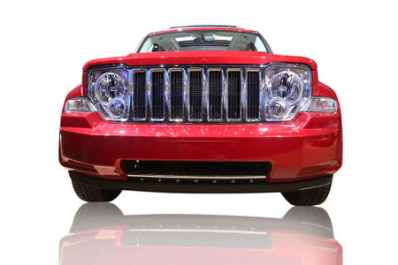 sportster: Isolated Red Suv Stock Photo