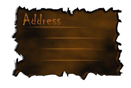 lable: Burnt Address Lable