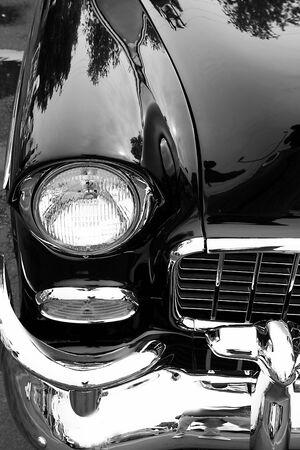 Black Classic Car Stok Fotoğraf - 3010046