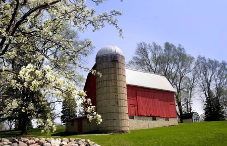 Scenic Red Barn Stock Photo - 3024128