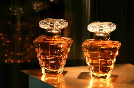 cologne: Perfume Bottles Stock Photo