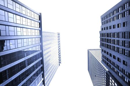 office buildings: Office Buildings Perspective View
