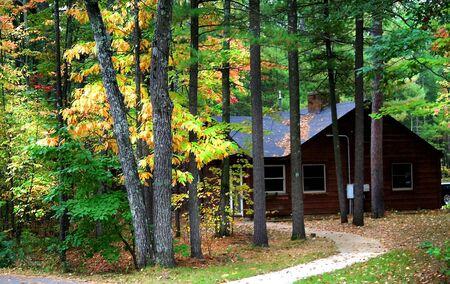 fallcolours: Cabin In A Park