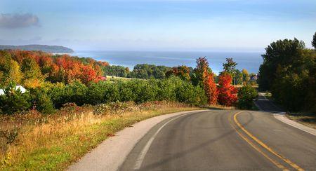 fallcolours: Scenic Drive Stock Photo