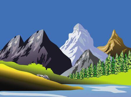 Scenic Mountaineous Landscape Art Stock Photo - 3573504