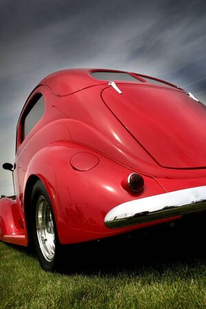 Red Classic Car Stock Photo - 3653306