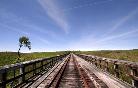 wood railroads: Kinzua Bridge