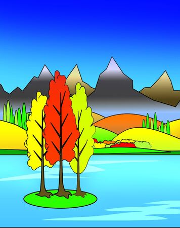 Bright Colorful Autumn Illustration Stock Illustration - 3676916