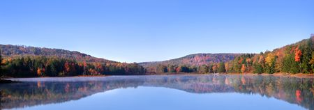 Panoramic View Of Autumn Landscape Stock Photo - 3706115