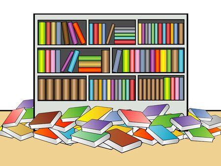 Illustratie van de bibliotheek