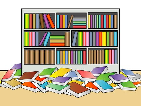 thesaurus: Library Illustration Stock Photo