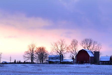 barn backgrounds: Winter Scene
