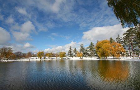 michigan snow: Scenic Landscape