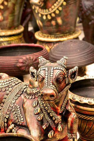 nandi: Nandi, Sacred Indian Statue Stock Photo