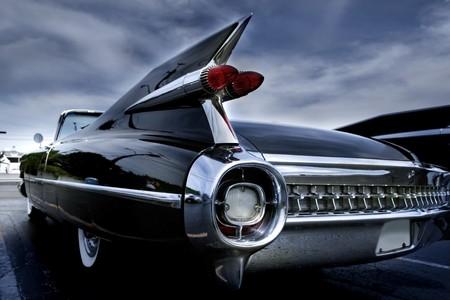 coche clásico: L�mpara de cola de un cl�sico de coches