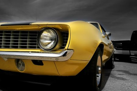 Yellow Muscle Car