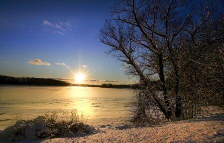 Winter Sun Set photo