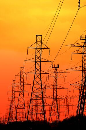 lines: Electrical Towers Stock Photo