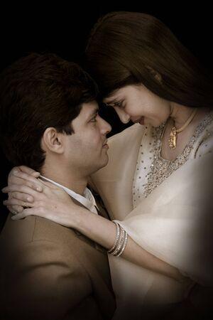 to wed: Indiano coppia Archivio Fotografico