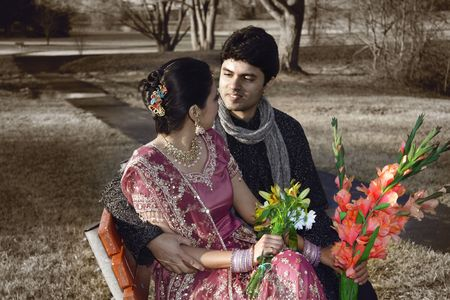 Indian Wedding Couple Stock Photo