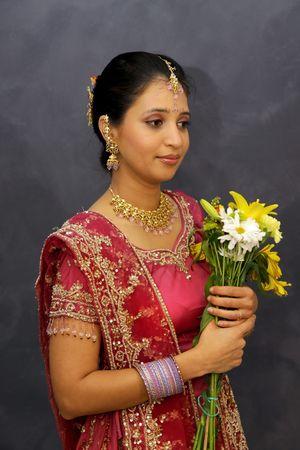 Portrait Of An Indian Bride Banco de Imagens