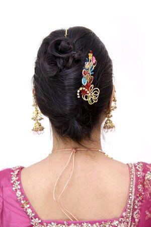 Hair Style d'une femme indienne Banque d'images - 4860590